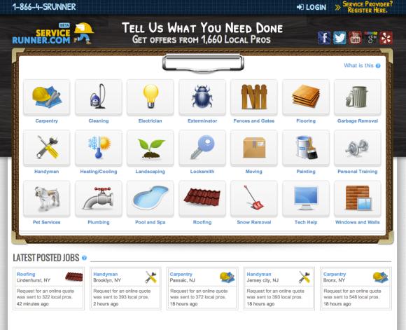 Service Runner Homepage